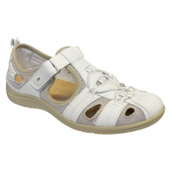 Earth Spirit Wichita Leather White (Z110) 19504 / 21005 Ladies Sandals