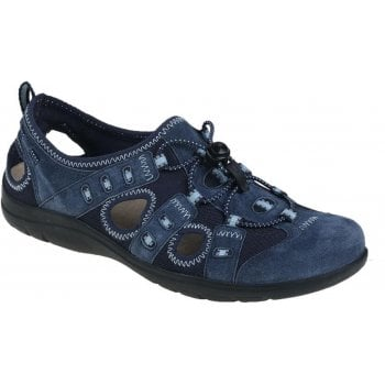 Earth Spirit Winona Leather / Textile Navy Blue (SCD2) 30217 Ladies Sandals