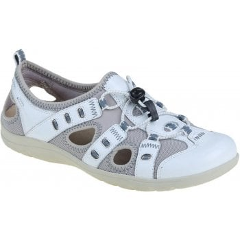 Earth Spirit Winona Leather / Textile White (F2) 30215 Ladies Sandals