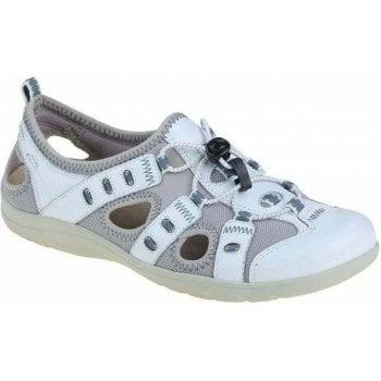 Earth Spirit Winona Leather / Textile White (F2) 30215 Ladies Sandals