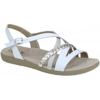 Earth Spirit Wyatt Leather White / Wash Gold (E8) 30322 Ladies Sandals