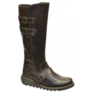 Fly London Solv Dark Brown (Z15) P142837004 Womens Wedge Boots