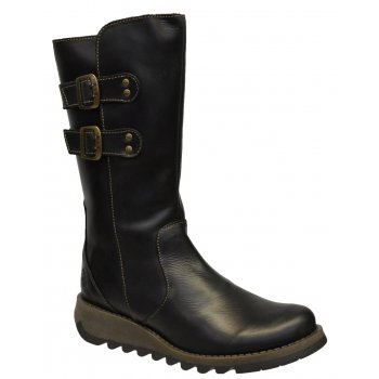 Fly London Suli Rug Black (Z102) P143254000 Womens Wedge Boots
