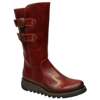 Fly London Suli Rug Red (Z21) P143254004 Womens Wedge Boots