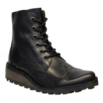 Fly London Marl Rug Black (N26) P210876000 Womens Brogue Boots