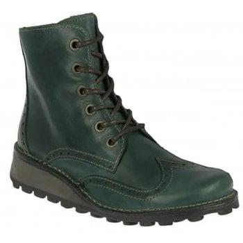 Fly London Marl Rug Petrol (N93) P210876005 Womens Brogue Boots
