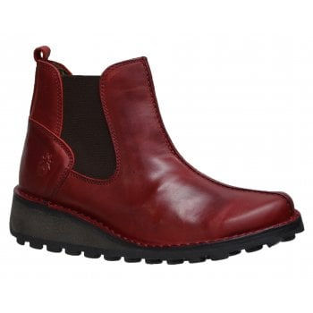 Fly London Mebe971fly Rug Red (B10) P210971003 Womens Wedge Boots