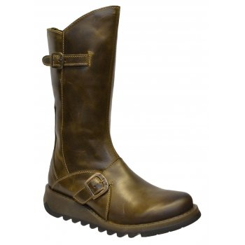 Fly London Mes 2 Rug Olive (Z110) P142913018 Womens Wedge Boots