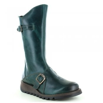 Fly London Mes 2 Rug Petrol (Z30) P142913017 Womens Wedge Boots