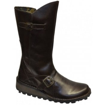 Fly London Mes Dark Brown (Z13) P210315059 Womens Wedge Boots