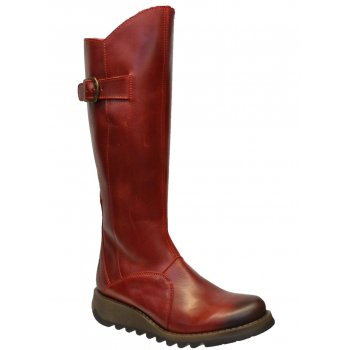Fly London Mol 2 Burnish Leather Red (Z25) P142912001 Womens Boots
