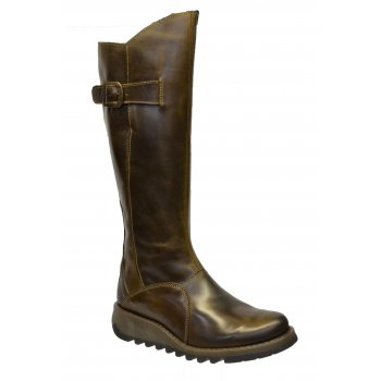 Fly London Mol 2 Burnished Leather Olive (Z16) P142912018 Womens Boots