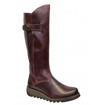 Fly London Mol 2 Burnished Leather Purple (Z159) P142912009 Womens Boots