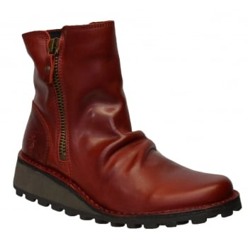 Fly London Mong944Fly Red (K8) P210944003 Womens Ankle Boots