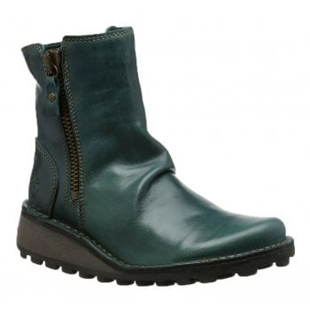 Fly London Mong944Fly Rug Petrol (N105) P210944004 Womens Ankle Boots