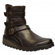 Fly London Myso Rug Dark Brown (Z108) P210847001 Womens Ankle Boots