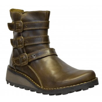 Fly London Myso Rug Olive (Z112) P210847009 Womens Ankle Boots