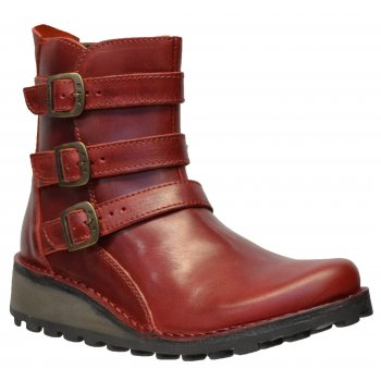Fly London Myso Rug Red (Z21) P210847003 Womens Ankle Boots