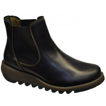 Fly London Salv Black (Z3) P143195000 Womens Wedge Boots