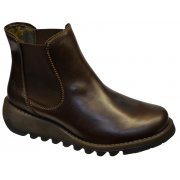Fly London Salv Dark Brown (Z21) P143195001 Womens Wedge Boots