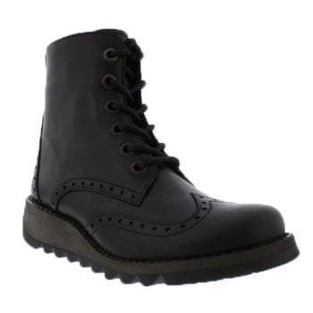 Fly London Sarl069Fly Black (N74) P144069005 Womens Brogue Boots