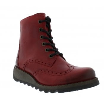 Fly London Sarl069Fly Red (B19) P144069008 Womens Brogue Boots