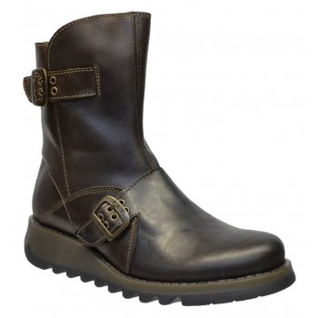 Fly London Seti Rug DK Brown (Z24) P142426006 Womens Boots