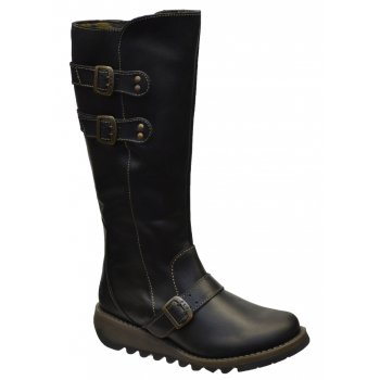 Fly London Solv Black (Z9) P142837005 Womens Wedge Boots
