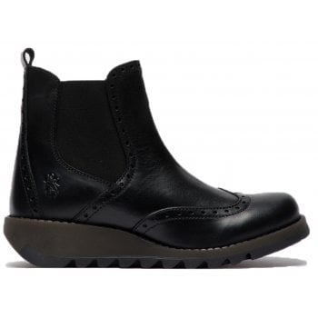 Fly London Sono523fly Rug Black (C3) P144523000 Womens Wedge Boots