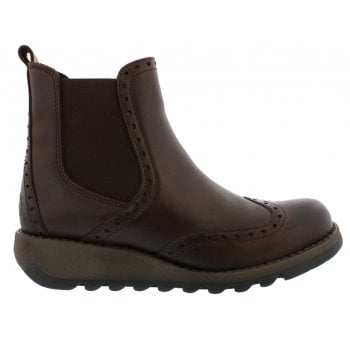 Fly London Sono523fly Rug Dark Brown (N200) P144523001 Womens Wedge Boots