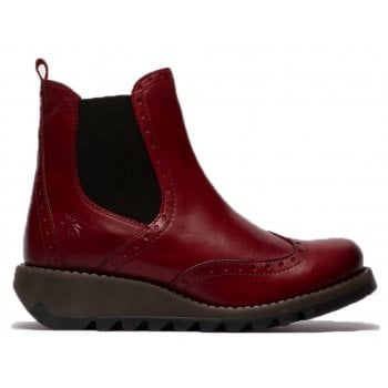 Fly London Sono523fly Rug Red (SC-C3) P144523003 Womens Wedge Boots