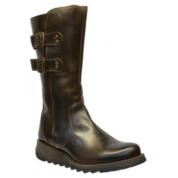 Fly London Suli Rug Olive (Z106) P143254007 Womens Wedge Boots