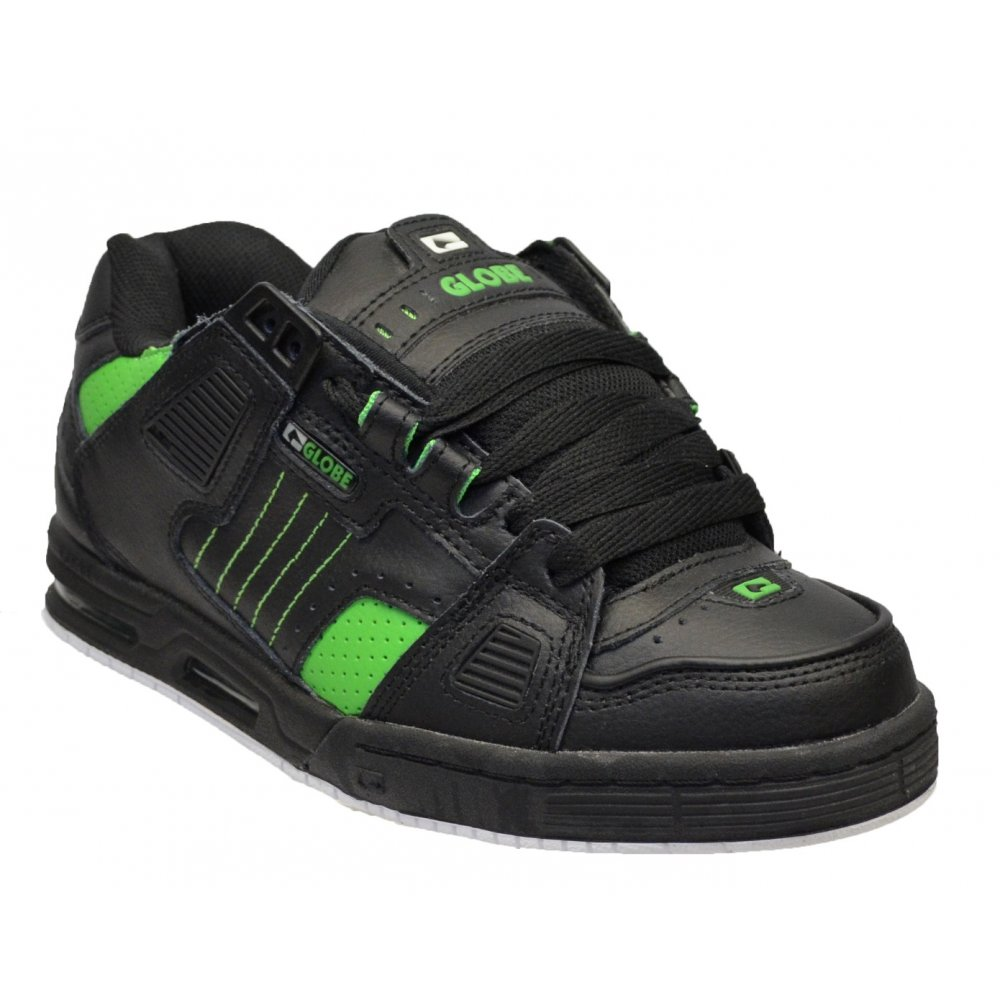 Globe Sabre Black / Moto Green (N107) 10768 Mens Skate Trainers ...
