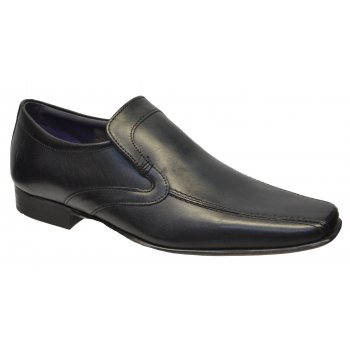 IKON English Benin Leather Black (N24) SM-2763 Mens Slip On