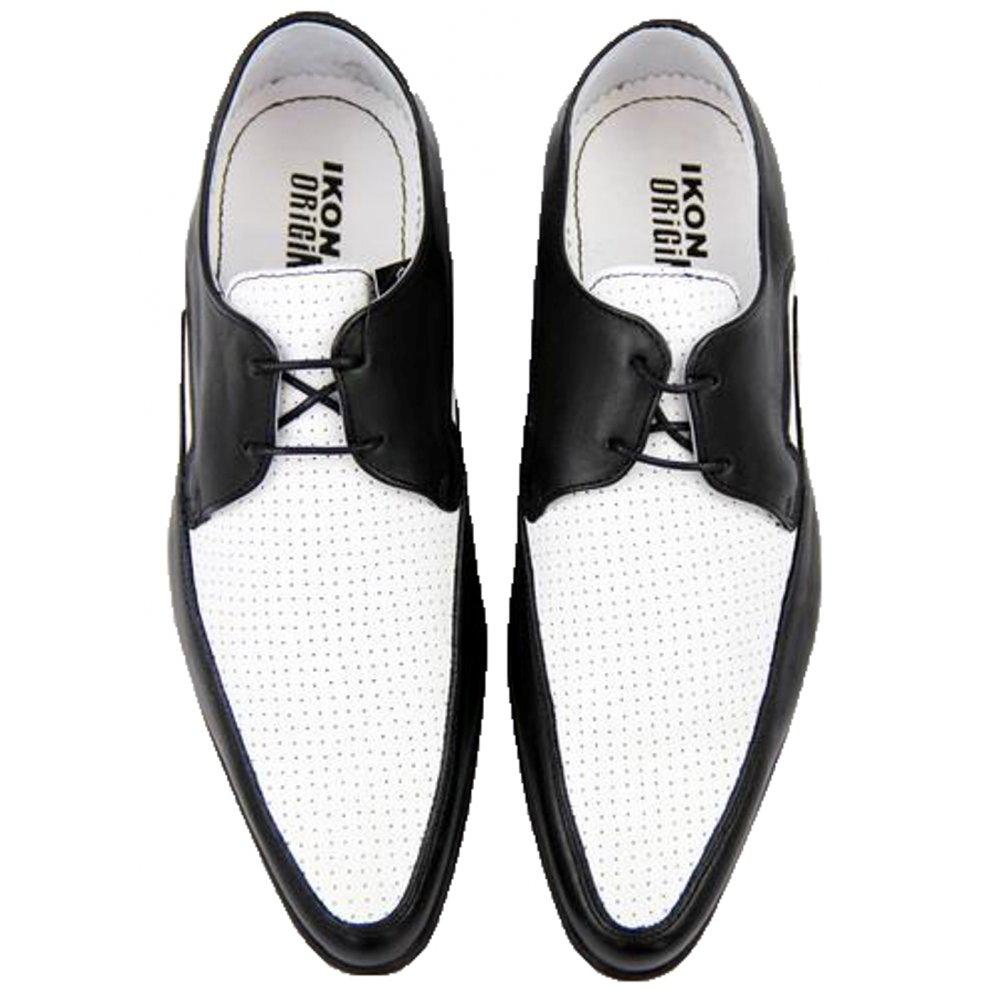 Mens Shoes All Sizes E3 Ikon Selecta Black