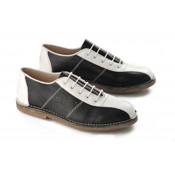 IKON Marriott Mod Bowling Black / White (G29) Mens Shoes