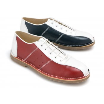 IKON Marriott Mod Bowling Red / Wht / Blu (N51b) Mens Shoes