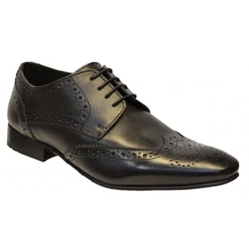 IKON Ikon Ritchie Brogue Leather Black (N37) SM-2345 Mens Shoes