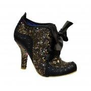 Irregular Choice Abigails Third Party Black / Gold (Gd2) 3081-6R Ladies Heels