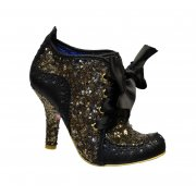 Irregular Choice Abigails Third Party Black / Gold (Gd2) 3081-6R Ladies Heels