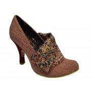 Irregular Choice Flick Flack Red Tweed (N48) Ladies Heels