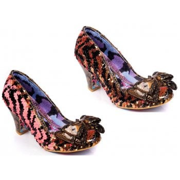 Irregular Choice Lady Banjoe Gold / Black (N83) 4255-42M Ladies Heels