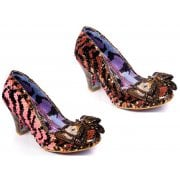 Irregular Choice Lady Banjoe Gold / Black (N83) 4255-42M Ladies Heels