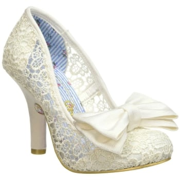 Irregular Choice Mal E Bow Cream (F8) 3081-14R Ladies Heels
