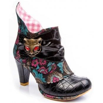 Irregular Choice Miaow Black (F8) 3432-02BG Ladies Heels