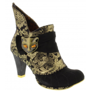 Irregular Choice Miaow Black  / Gold (N37) 3432-2U Ladies Heels