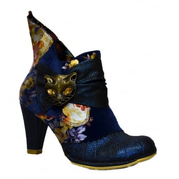 Irregular Choice Miaow Blue Multi Floral (G1) 3432-02AK Ladies Heels All Sizes