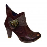 Irregular Choice Miaow Bordo Red (N103) 3432-2O Ladies Heels All Sizes