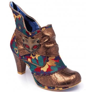 Irregular Choice Miaow Gold Metallic (N37) 3432-02AY Ladies Heels All Sizes