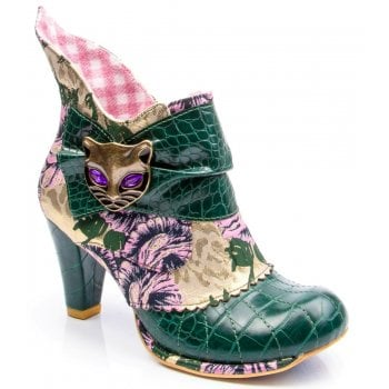 Irregular Choice Miaow Green (C3) 3432-02BH Ladies Heels